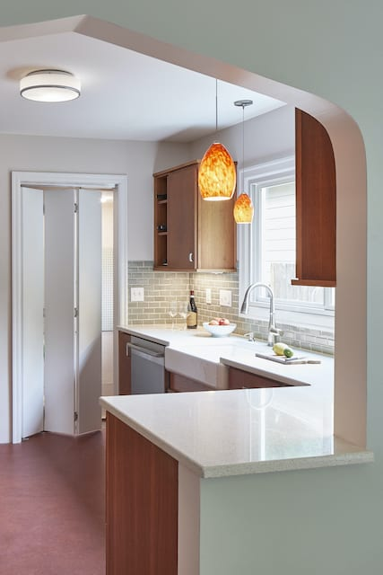 Kitchen Remodel with Arch