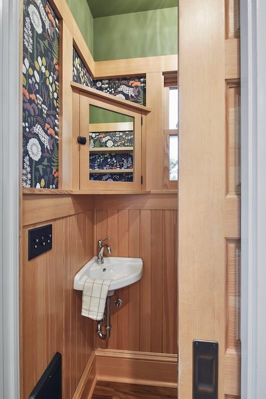 SE Southeast Portland Bathroom Remodel Wallpaper