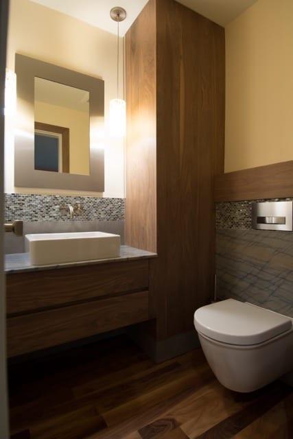 SW Portland Bathroom Remodel Bamboo Duravit Wall Hung Toilet