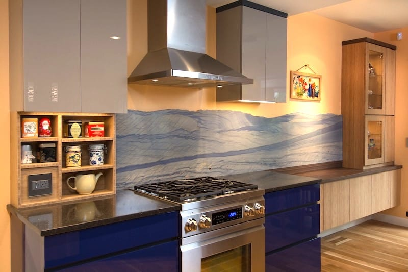 SW Portland Kitchen Remodel Bamboo Live Edge Granite